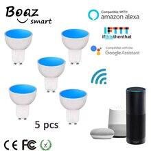 Boaz-EC 5W Smart Wifi GU10 Light Bulb Remote Control Colorful Dimmable Spotlight Alexa Echo Google Home IFTTT Tuya