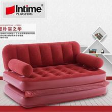 5 в 1 надувной диван-кровать, надувной диван-кровать, двуспальная кровать, раскладной диван, двойной надувной шезлонг, красный большой релакс-салон
