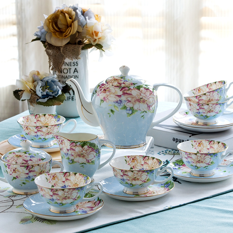 21piece-set, Chinese Vintage Look Coffee Cup Set