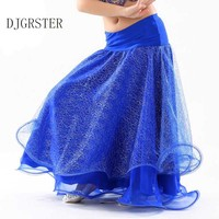 DJGRSTER 2017 New Bellydancing Skirts Performance Kids Belly Dancing Clothes Flare Long Maxi Skirts Kids