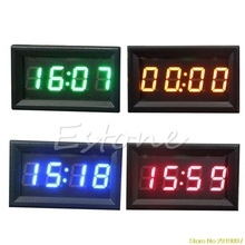 New 12V/24V Car Motorcycle Accessory Dashboard LED Display Digital Clock Drop Shipping Support(China)