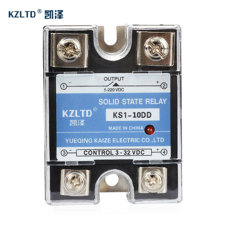 цена на KZLTD SSR-10DD SSR Relay DC DC Out Solid State Relay SSR 10A SSR Relay 10A Relay Solid State Single Phase