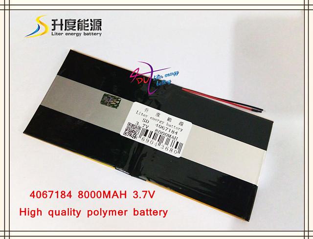 3.7 V 8000 mAH SD 4067184 (íon de lítio polímero bateria/Li-ion) para tablet pc, BANCO de POTÊNCIA, E-BOOK