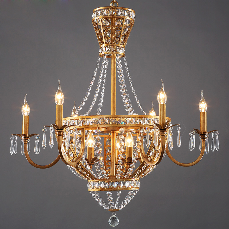 American vintage rustic french style crystal chandelier light home american vintage rustic french style crystal chandelier light home lighting chandeliers rustic country style creative pastoral in chandeliers from lights aloadofball Image collections