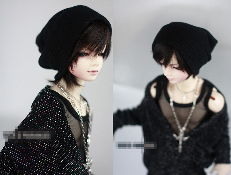 Fashion Black Thread knitted Cap Hat 3 colors For BJD 1/6 YOSD,1/4 MSD,1/3,SD17, Uncle Doll Clothes Accessories knitted skullies cap the new winter all match thickened wool hat knitted cap children cap mz081
