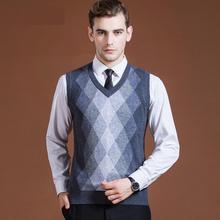 Новое поступление модные Для мужчин молодых Kanjian Повседневное автоматической вязкой вязаный жилет с треугольным вырезом, без рукавов, мужские, весенне-осенние, Размеры M L XL XXL XXXL
