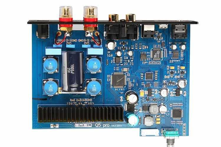 SMSL Q5 Pro Высокое качество Hi-Fi 2,0 чистый цифровой домашний аудио усилитель вход оптический/коаксиальный/USB/мощность 45 Вт * 2 дистанционное управление
