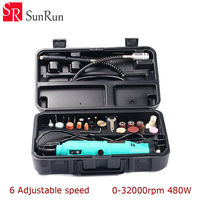 220V 140W Electric Dremel Rotary Tool 6 Speed Mini Drill with Flexible Shaft and 36pcs Accessories Power Tools EU US plug