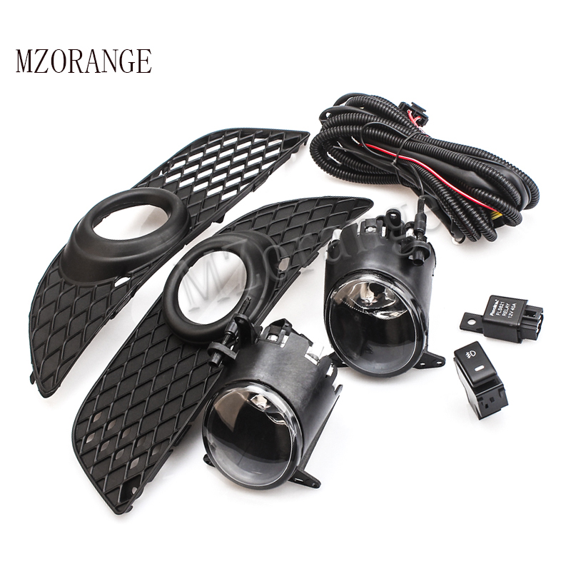 MZORANGE Fog Light H11 For Mitsubish Lancer Lancer ex 08 13 Front Bumper Grille Driving Fog
