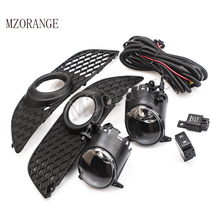 MZORANGE Fog Light H11 For Mitsubish Lancer Lancer-ex 08-13 Front Bumper Grille Driving Fog Lamp With Wiring Harness Switch Kit цена