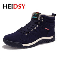 Heidsy Men Winter Running Shoes for Men Sneakers Boots Outdoor Sports Shoes Waterproof Keep Warm Plush Lining Jogging Men Boots