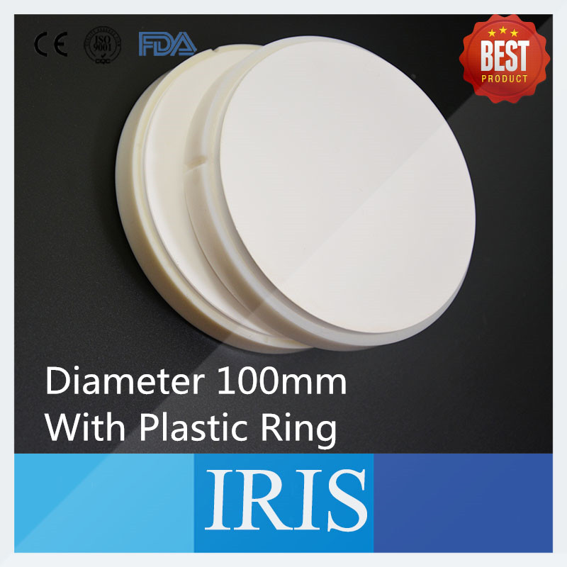 Top Sale!!! 3 PCS HT and ST OD100*18mm~25mm Dental Zirconia Blocks with Shoulder for Making Ceramic Dentures 1 pieces od98 20mm ht st dental zirconia ceramic blocks for wieland cad cam milling system zirconium block