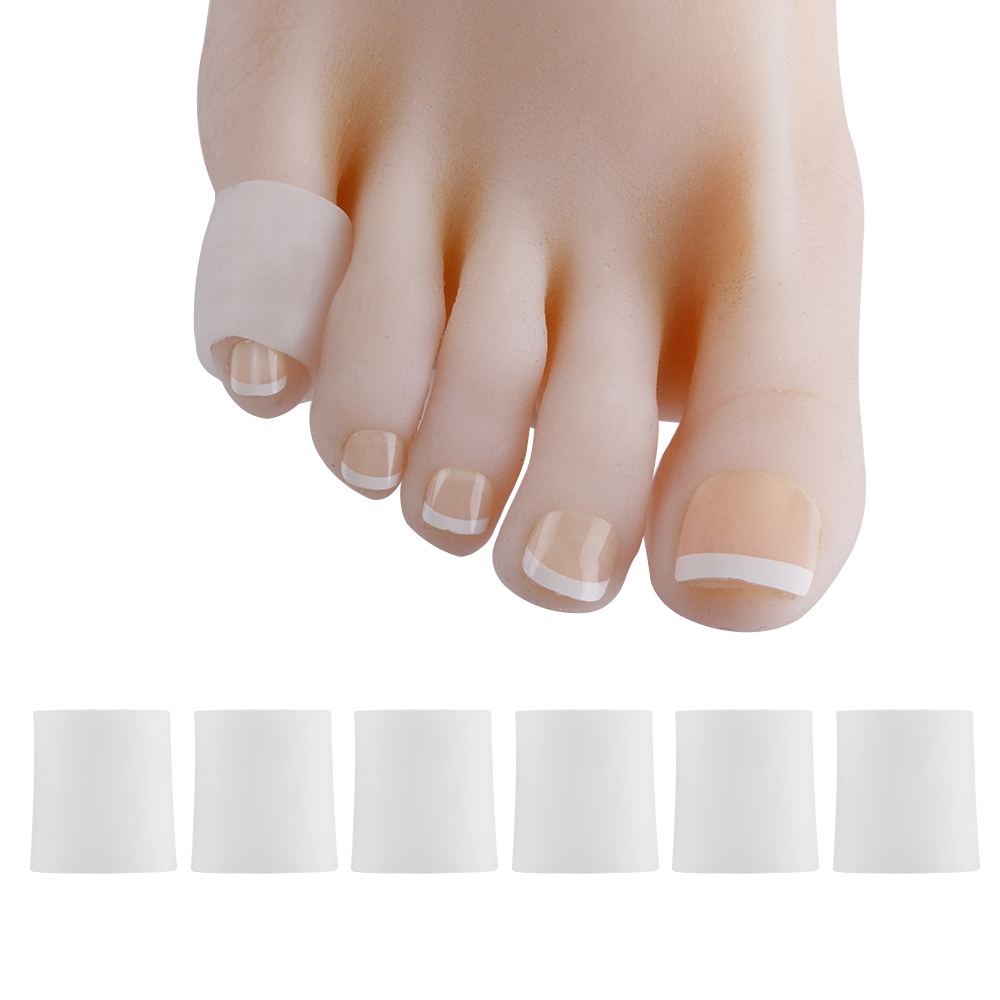 3Pairs Finger Toe Protector Silicone Gel Cover Cap Pain Relief Preventing Blisters Corns Nail Tools Foot Care Toe Separators