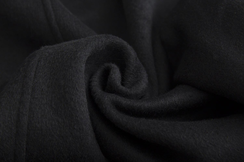 Européen 2018 Et Vestes Femmes De Revers Américain Manteau Noir Longues à En Manches Moyen Ultra Laine Métal Fermoirs Long rddqw