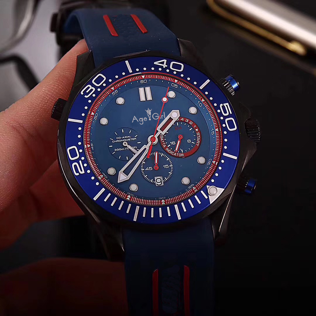 Luxury Brand New Men Professional Sport Watches Fashion Stainless Steel Orange Black Blue Chronograph Sapphire Glass AAA+Luxury Brand New Men Professional Sport Watches Fashion Stainless Steel Orange Black Blue Chronograph Sapphire Glass AAA+