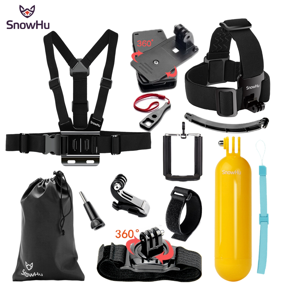 SnowHu for Gopro Accessories Monopod selfie stick Floaty Bobber Hand Grip Wrist Strap For Go Pro Hero 6 5 4 3+ for Xiaomi GS67