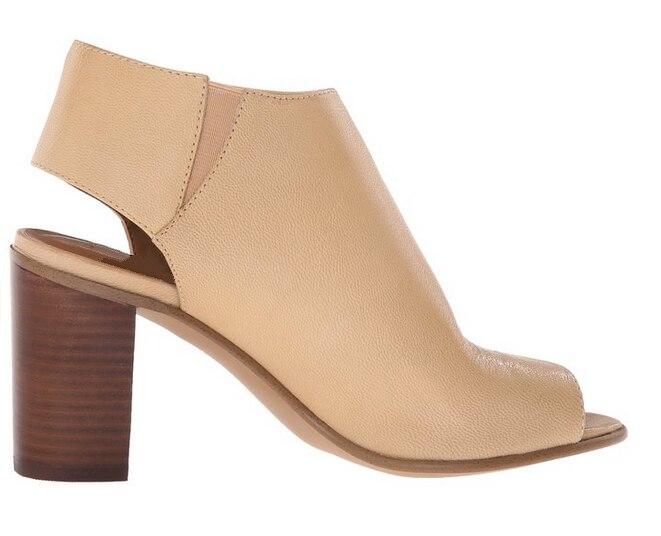 ФОТО Stylish Women Sandals Square Heels Pumps PU Soft Leather Beige Blue Black Gray Elegant Shoes Woman Plus US Size 4-15