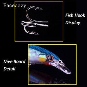 Image 5 - 1 señuelo luminoso Biónico de Facecozy, Señuelos de Pesca con dos ganchos de garra de águila, cebo Artificial de 8 11CM CrankBait de gran velocidad Minnow