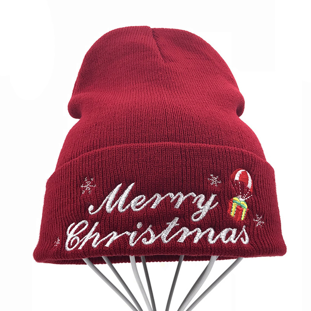 8419e2a2738 High Quality Winter Merry Christmas gift Hat Women Men Skullies Beanies  Unisex Warm Hip-hop Knitted Cap Hats For Youth Beanie