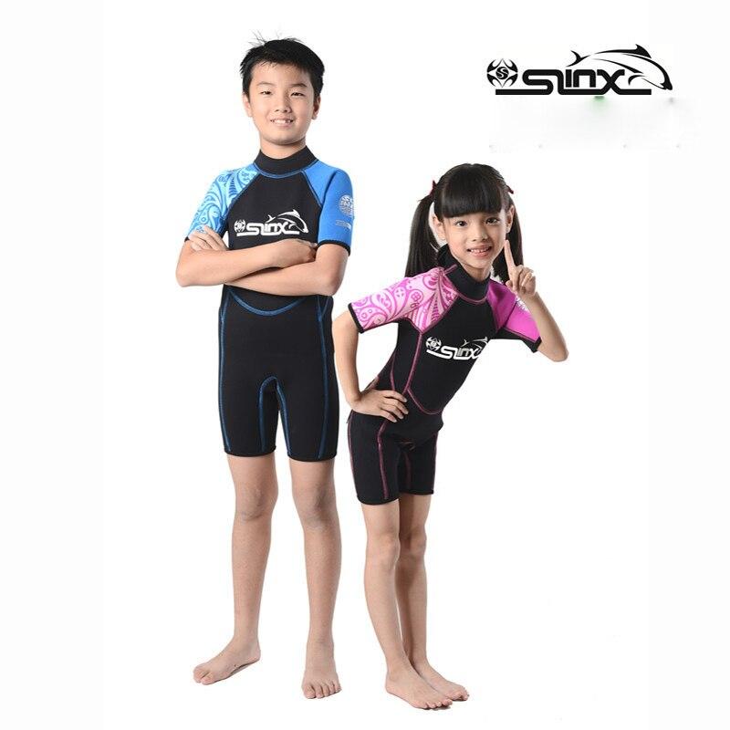 Slinx 2mm néoprène Shorty enfants combinaison pour garçon fille nager sous-marine enfants plongée combinaison humide plongée en apnée Surf porter des vêtements F34