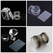 1Pc 3.5-4cm XL Jelly Stamper Pure Clear Silicone Nail Art Stamping with Cap For Stamp YZ 16/17/19/30