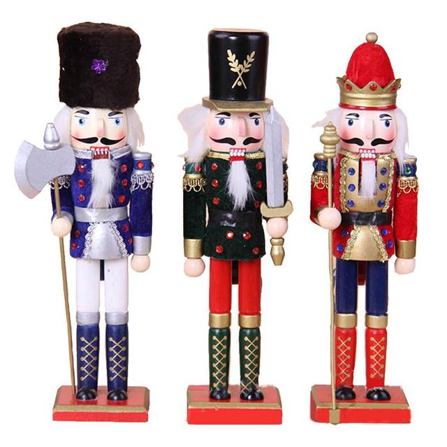 Christmas Party Ornaments Nutcracker Puppets Wedding Birthday Style Christmas  Decorations Walnut Soldier Doll Gift - Christmas Party Ornaments Nutcracker Puppets Wedding Birthday Style