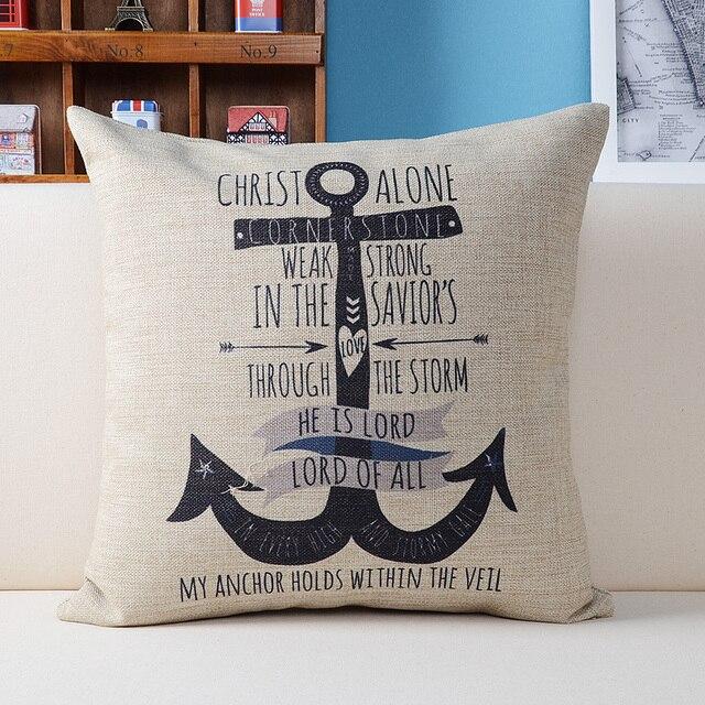 ship anchor fashion home decor pillows sofa pillow emoji pillows characters decor cushions mediterranean style decor - Texas Style Decorating
