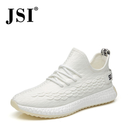 JSI Stylish Round Toe Gingham Fretwork Men Sneakers Casual Slip-On Air Mesh Shoes Basic Solid Chunky Platform Men Sneakers JX33