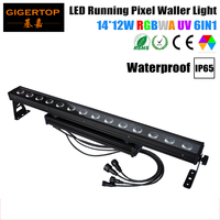 Tiptop Waterdichte Running Pixel Led Wall Washer Licht 14X12 W Rgbwa Uv 6IN1 Dmx/Mater En Slave /Geluid Controle IP65 Ce Rohs-in Toneelbelichtingseffecten van Licht & verlichting op