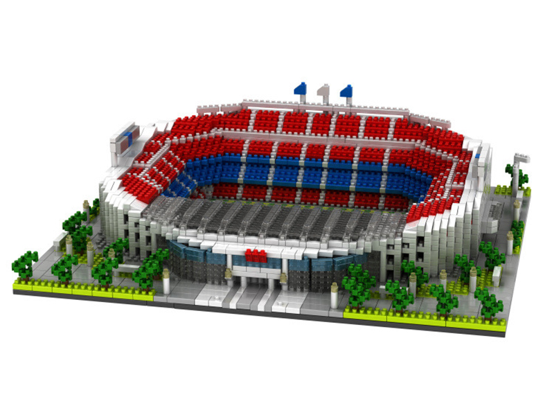 Image 3 - World Great Football No compatible legoed stadium Field building kit mini nanoed micro block Brick architecture Club Cup kid Toy-in Blocks from Toys & Hobbies