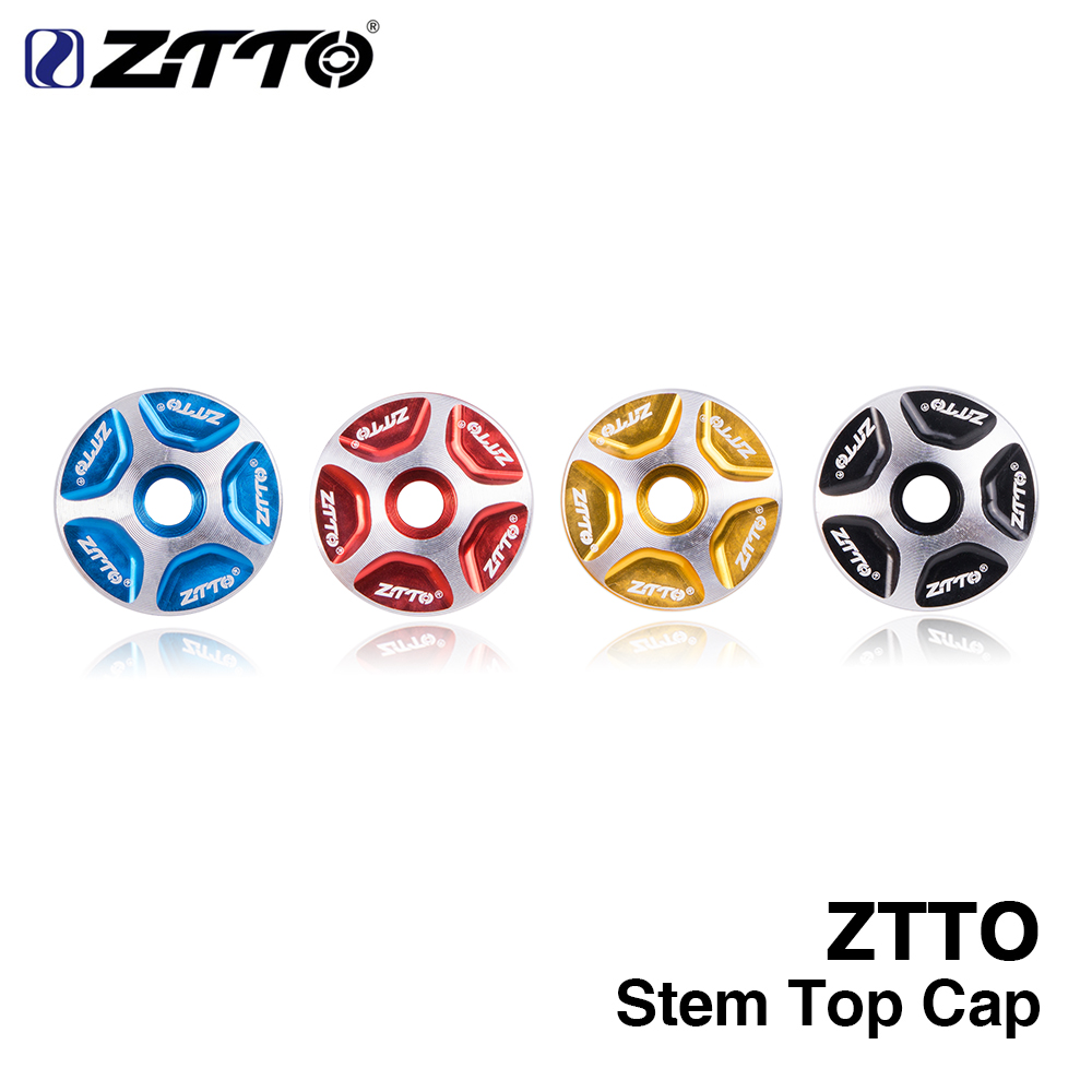 """ZTTO MTB Bicycle Headset stem Top Cover Cap fork 1-1/8"""" Threadless Headsets Mountain Road Bike Aluminum Alloy Bicycle Parts"""