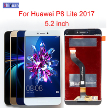 купить 5.2 inch For Huawei P8 Lite 2017 LCD Display Touch Screen Digitizer For Huawei P9 Lite 2017 LCD P8 Lite 2017 PRA LA1 LX1 LX2 LX3 по цене 1178.03 рублей