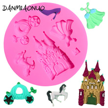 Castle Silicone Mold Chocolate Cake Decorating Skirt Baking Tools For Cakes Cake Fondant Moule Silicone 3d Silikon Form For Soap цена и фото