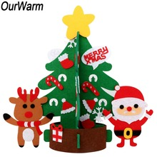 OurWarm DIY Felt Christmas Tree Table Top Decoration for Toddlers Kids Gifts 2019 New Year
