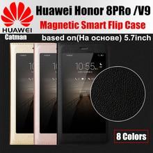 Huawei honor 8 pro случае оригинальный catman марка дизайн роскошный PU кожа магнитные смарт откидная крышка для huawei honor 8pro V9 случае