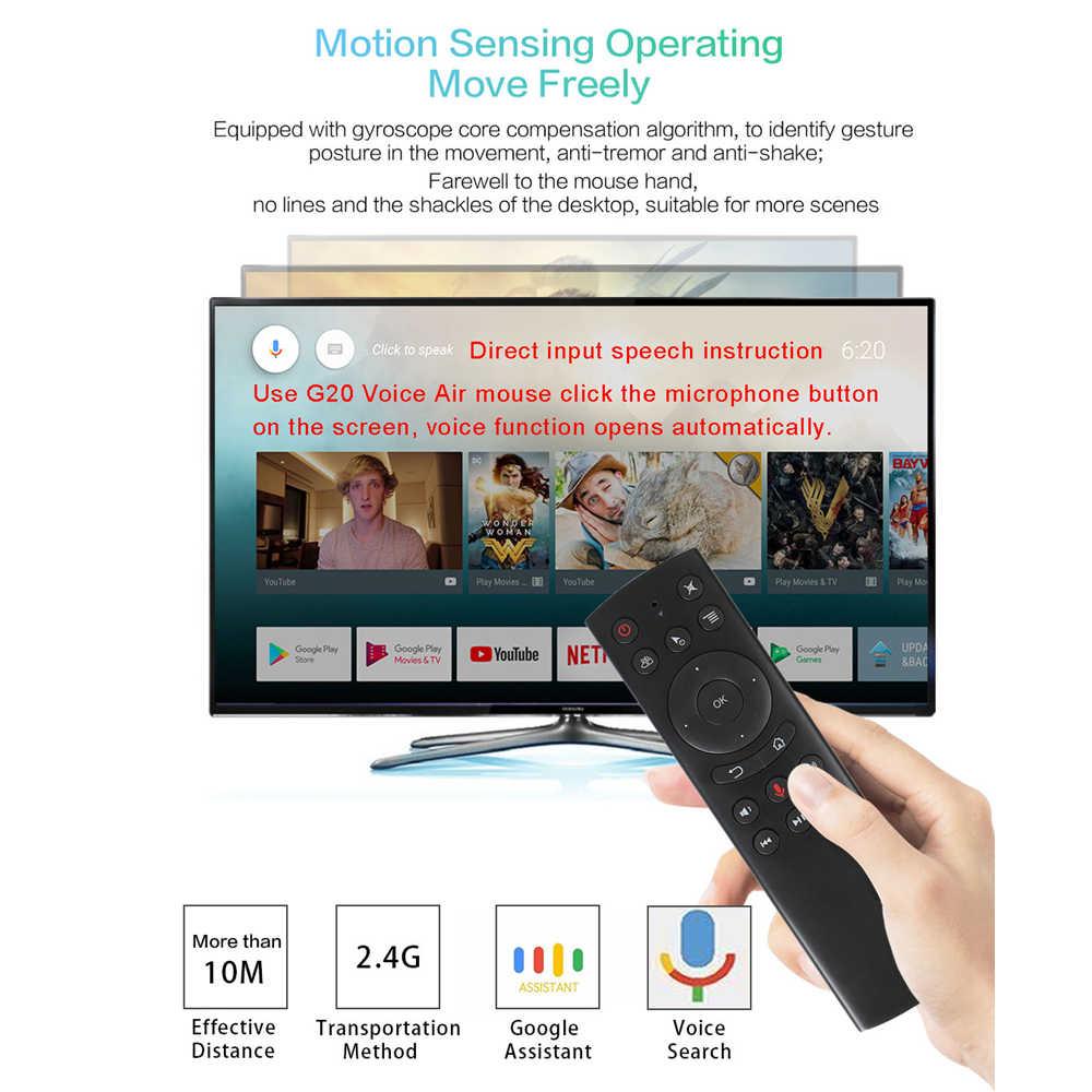 L8star G20S G20 2.4G Không Dây Con Quay Hồi Chuyển Chuột Hồng Ngoại Điều Khiển Từ Xa RF Điều Khiển Giọng Nói Mini Đa Năng Bàn Phím Điều Khiển Cho Máy Tính android TV Box