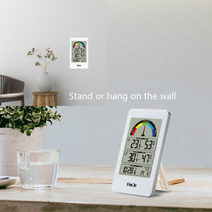 Image 3 - FanJu FJ3356 Digital Thermometer Hygrometer Weather Station Wall Clock Wireless Sensor Alarm Comfort Pointer Display Table Watch