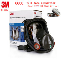 3M 6800 6900 Full Face Respirator Genuine Security 3M Respirator Mask Painting Spraying Industrial Safety Full