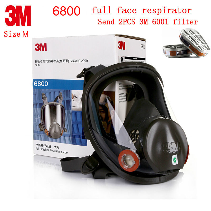 3M 6800 full face respirator Genuine security 3M respirator mask Painting Spraying Industrial safety full face respirator europe 5 lines cccam cline for 1 year spain germany tv for dvb s s2 satellite receiver v7 hd v8 super iks receptor