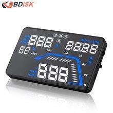 Горячие продажи Универсальный HUD Q7 5.5 «Авто GPS Head Up Дисплей Спидометров Превышения Скорости Предупреждение Приборной Панели Лобового Стекла Проектор