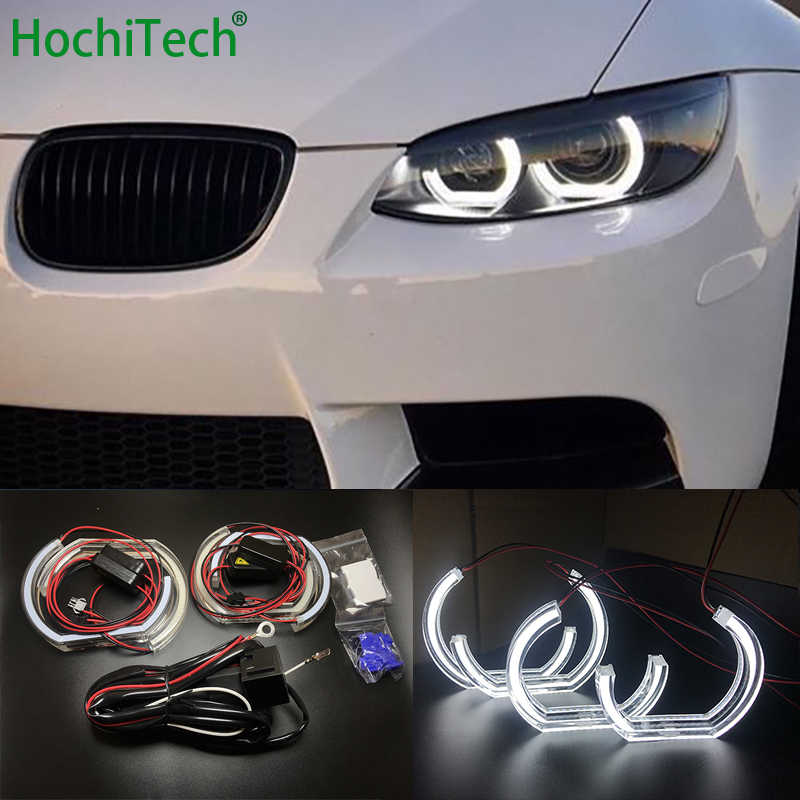 For BMW 3 Series E90 E92 E93 M3 Coupe and cabriolet 2007-2013 Car styling High Quality DTM Style White Crystal LED angel eyes