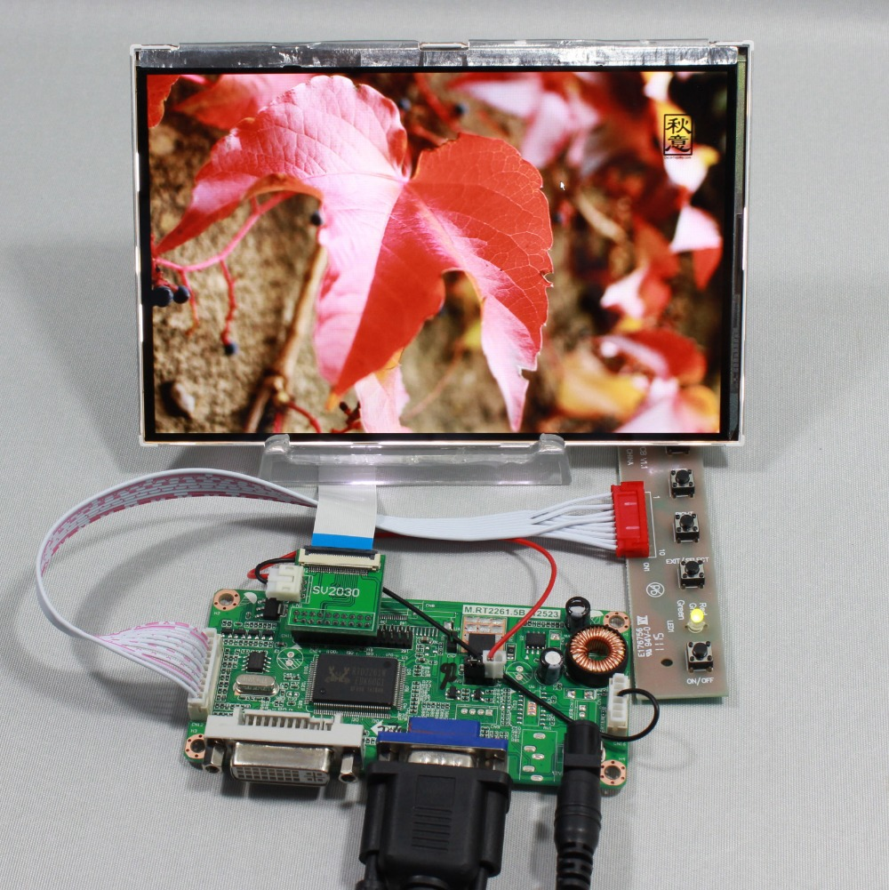 DVI VGA LCD controller board 7inch HSD070PWW1 C00 IPS sunshine Visible lcd  Brightness 690cd/m2 IPS Lcd panel hdmi vga 2av lcd controller board work for 7inch hsd070pww1 ips lcd panel