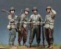 Envío Libre 1/35 Scale Figura De Resina WW II Batalla de Horgen 4 figuras de soldados