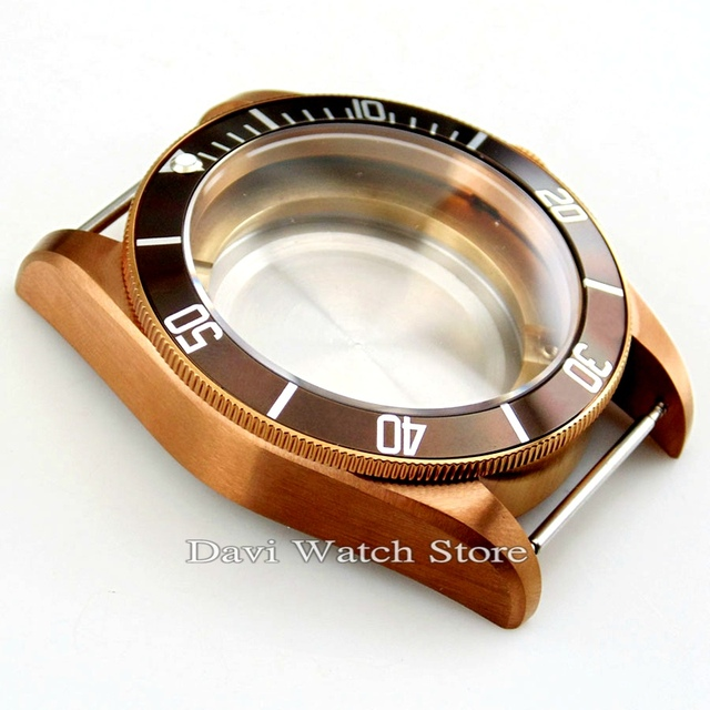 41mm saphir café boîtier de montre pour ETA 2836 mitoyota 8205 8215 821A Mingzhu/DG 2813 3804 mouvement montre