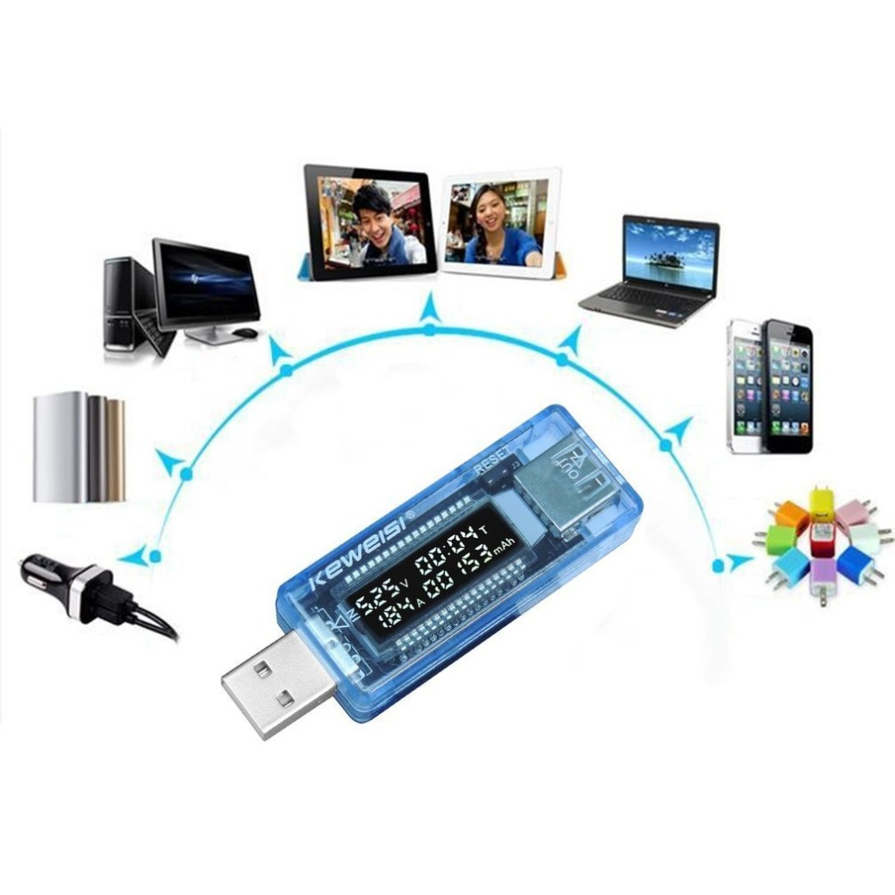 Mini LCD USB Spannung Strom Detektor Mobile Stromversorgung Ladegerät Digital