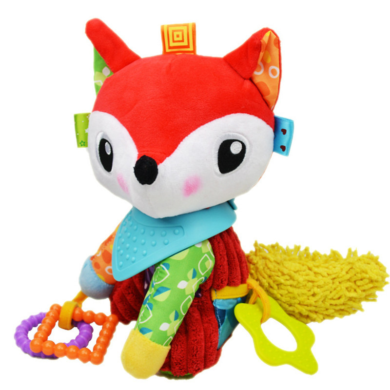 Baby Mobile Stroller Fox Toys Kids Bed Bell Pram Plush Stuffed Baby Crib Rattle Toy
