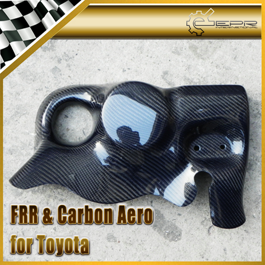 Car Accessories Styling For Toyota BRZ FT86 FRS PJDM Style Carbon Fiber Oil Filter AC Pump Shield Glossy Fibre Engine Part Trim-in Engine Bonnets from Automobiles & Motorcycles on EPR Store