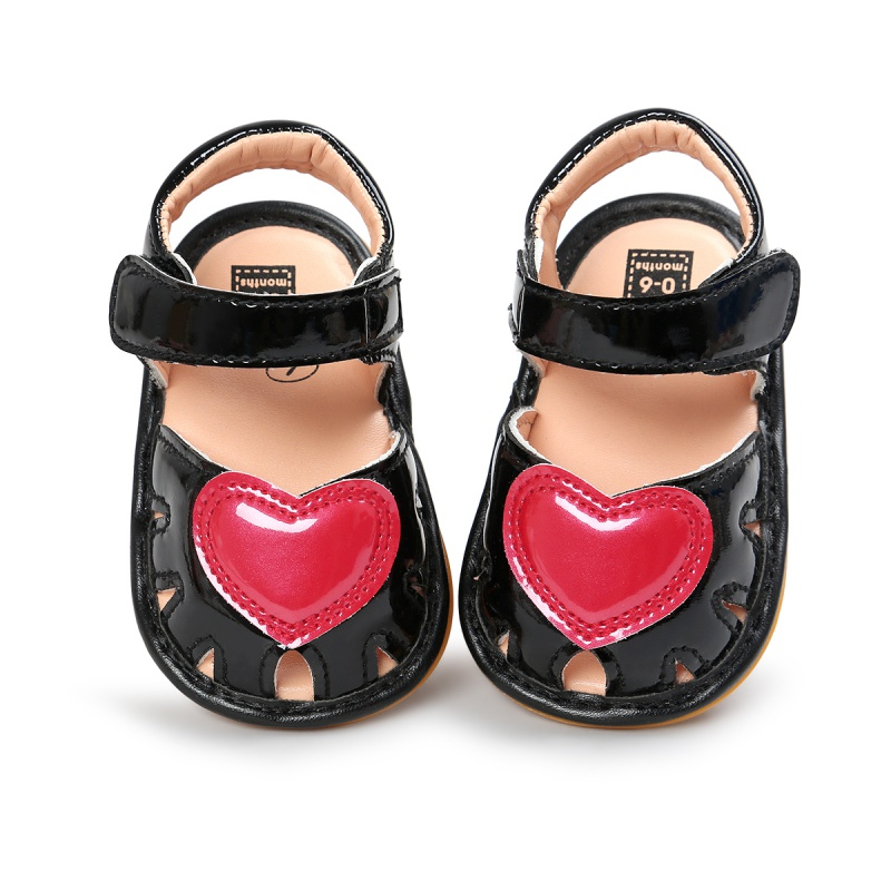 Cute Baby Girls Sandals Baby Clogs Soft Bottom Non-slip Baby Princess Shoes Girls Love Kids Shoes YTUB0