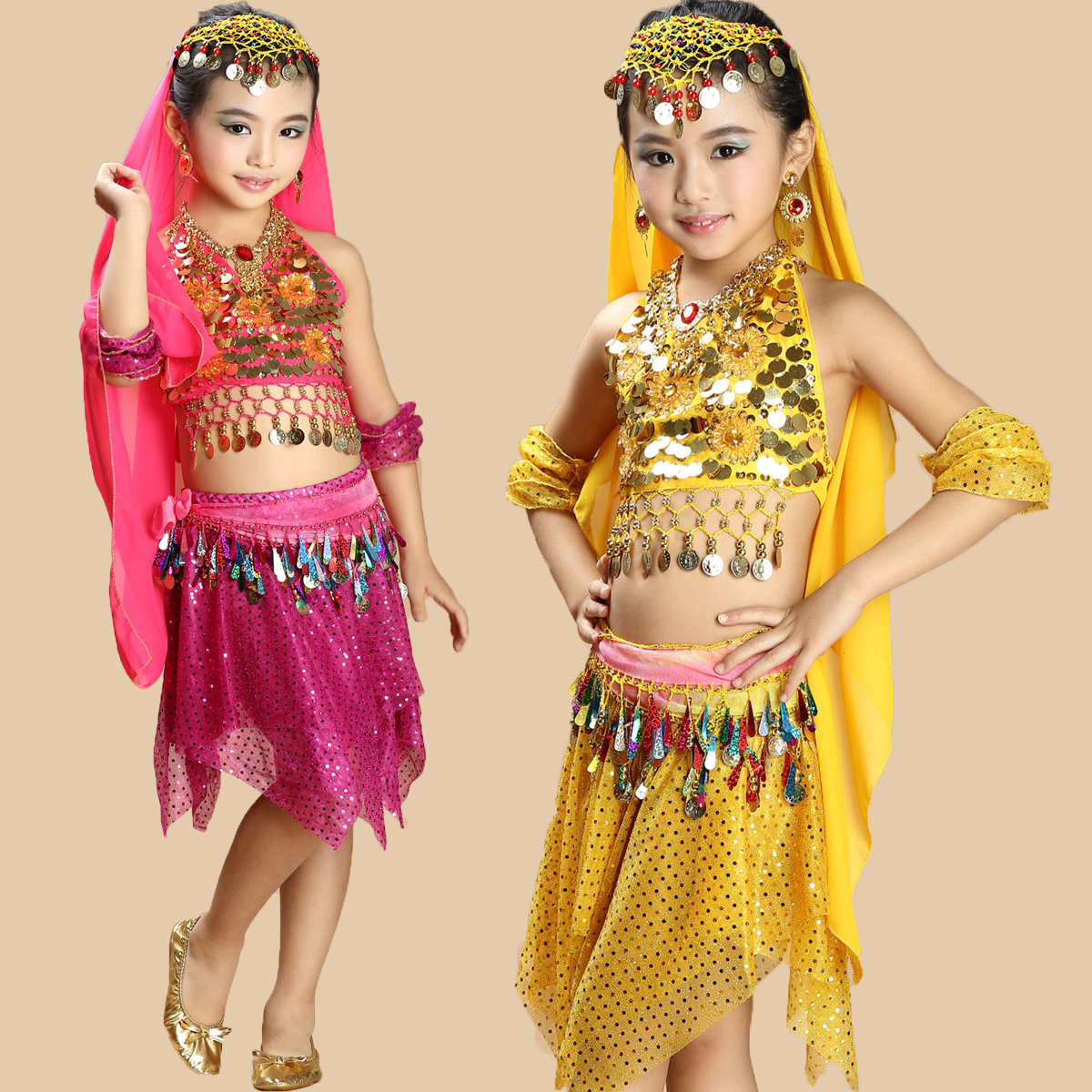 professional 2017 girl bollywood dance costumes for kids belly dance set skirt top pants girls bimba bellydance  oriental
