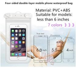 JDENKE плавательные сумки для телефона водонепроницаемый чехол для дайвинга для плавания от 3,5 до 6,0 дюймов водонепроницаемая сумка для сотово...